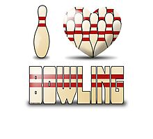 I love bowling - pins Photographic Print