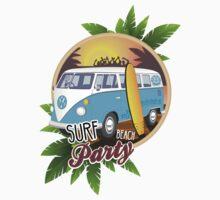 Volkswagen Camper - Surf Beach Party Kids Tee