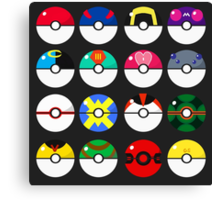 Pokeballs! Canvas Print