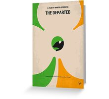 No506 My The Departed minimal movie poster Greeting Card