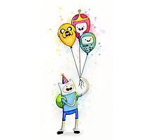 Finn with Birthday Balloons Jake Princess Bubblegum BMO Photographic Print