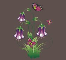 Bluebell Flower with Leaves Baby Tee