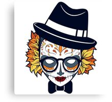 Mad Hatter Sugar Skull Canvas Print
