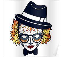Mad Hatter Sugar Skull Poster