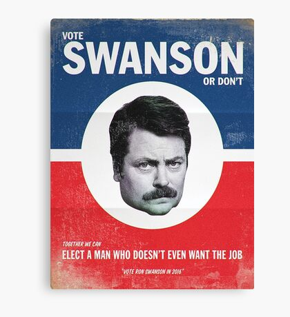 Vote For Ron Swanson Canvas Print
