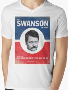 Vote For Ron Swanson Mens V-Neck T-Shirt