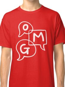 OMG Lettering Typography word expression  Classic T-Shirt