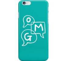 OMG Lettering Typography word expression  iPhone Case/Skin