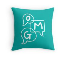 OMG Lettering Typography word expression  Throw Pillow