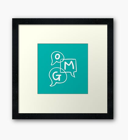 OMG Lettering Typography word expression  Framed Print