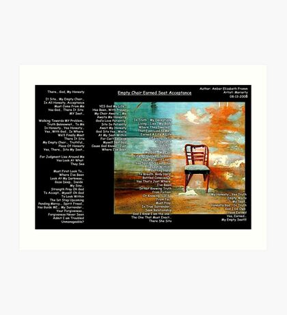 Empty Chair Earned Seat Acceptance Art Print