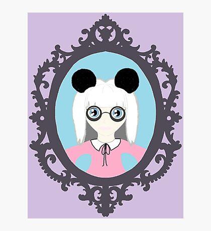 Kawaii Panda Cosplay Girl Photographic Print