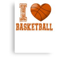I love basketball Canvas Print