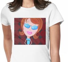 Dick Magnet Womens Fitted T-Shirt