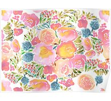 watercolor floral Poster