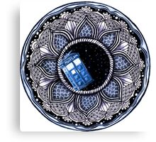Tardis in space mandala Canvas Print