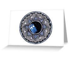 Tardis in space mandala Greeting Card