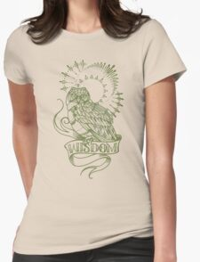 wisdom owl tattoo shirt Womens Fitted T-Shirt