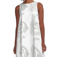 Pencilled Loopies A-Line Dress