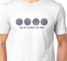 They see me rolling, they hating - moon emoji Unisex T-Shirt