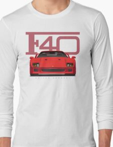 Ferrari F40 Red Long Sleeve T-Shirt