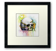 Jake Hugging Skull Adventure Art Watercolor Framed Print