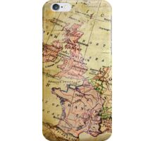 Old Western Europe Map iPhone Case/Skin