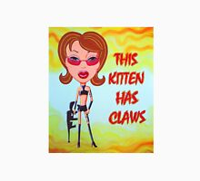 This Kitten Has Claws Womens Fitted T-Shirt