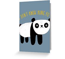 Regular Panda Greeting Card