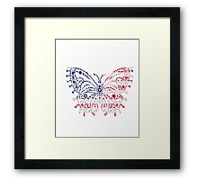 American Patriotic Dots *Butterfly Flag  Framed Print