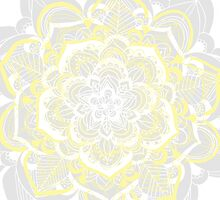 Woven Fantasy - Yellow, Grey & White Mandala by Tangerine-Tane