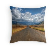 A Road Somewhere Throw Pillow