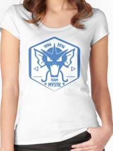 -GEEK- Team Mystic Gyrados Women's Fitted Scoop T-Shirt