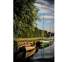 Boats on Norfolk Broads Photographic Print