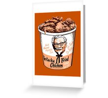 colonels' bucket of goodness Greeting Card
