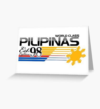 Pilipinas World Class Greeting Card