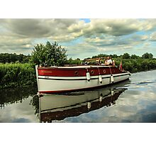 Vintage vessel on Norfolk Broads Photographic Print