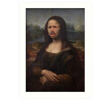 The Moaning Lisa (Karl Pilkington) Art Print