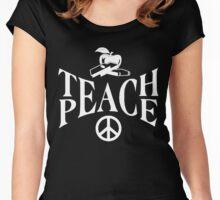Teach Peace Shirt Women's Fitted Scoop T-Shirt
