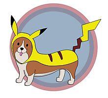 Pikachu Corgi Photographic Print