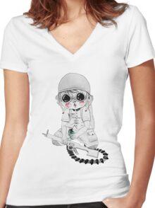 Child's War Women's Fitted V-Neck T-Shirt