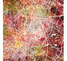Austin map Photographic Print