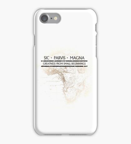 Uncharted - SIC PARVIS MAGNA iPhone Case/Skin