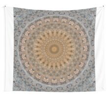 Mandala in beige and golden tones Wall Tapestry