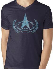 CNSA Vintage Emblem Mens V-Neck T-Shirt