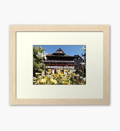 Strasbourg City Of Flowers Framed Print