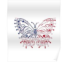 American Patriotic Dots Butterfly Flag iPod / iPhone 4  / iPhone 5  Case / Samsung Galaxy Cases / Pillow / Tote Bag / Duvet / Prints  Poster
