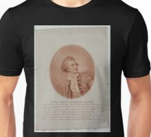 0143 ballooning Rto del Capitan dn Vincente Lunardi Nació en Lucca el dia 11 de enero de 1759 Nesmith pinxt Burke fecit Unisex T-Shirt