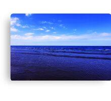 The essence of the Coast, Sea and Sky, Saltburn, North East England Canvas Print