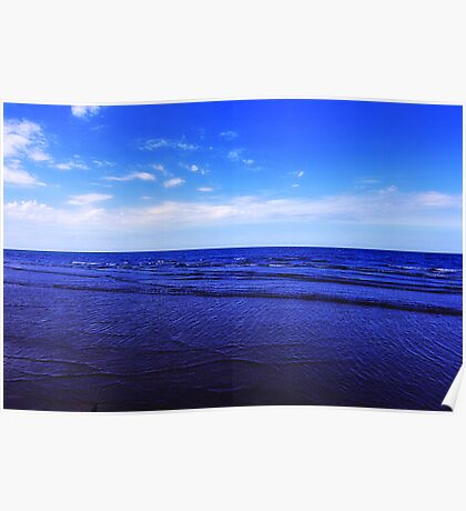 The essence of the Coast, Sea and Sky, Saltburn, North East England Poster